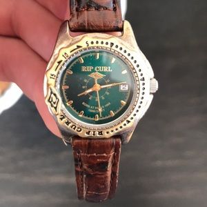 Vintage Rip Curl women's watch leather band
